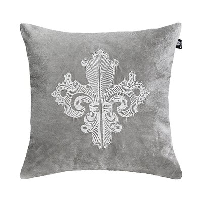 Delrick Embroidery Luster Pillow Cover Color: Silver Gray