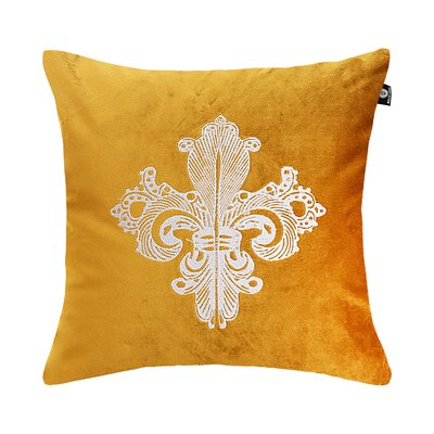 Delrick Embroidery Luster Pillow Cover Color: Yellow