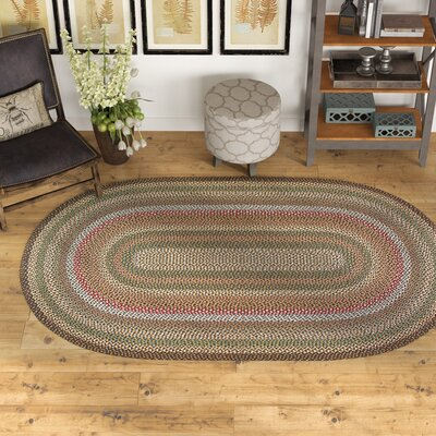 Kiefer Hand-Woven Brown/Gray Area Rug Rug Size: Oval 5 x 8