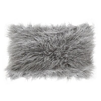 Hylan Mongolian Lumbar Pillow Color: Fog
