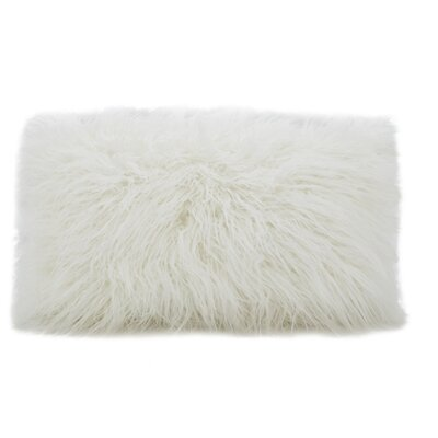Hylan Mongolian Lumbar Pillow Color: Ivory