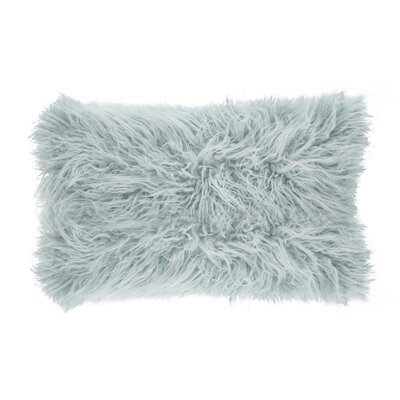 Hylan Mongolian Lumbar Pillow Color: Ice Blue