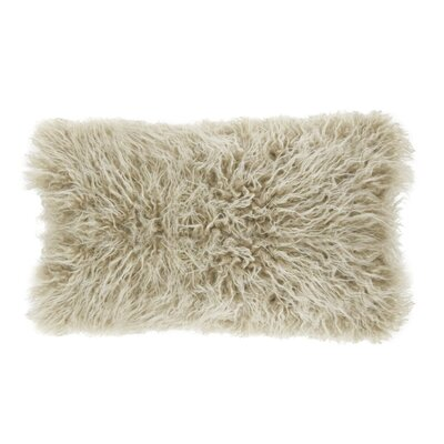Hylan Mongolian Lumbar Pillow Color: Oatmeal