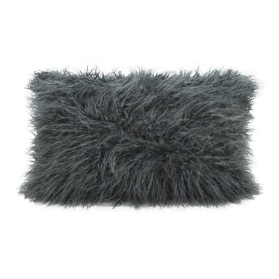 Hylan Mongolian Lumbar Pillow Color: Slate