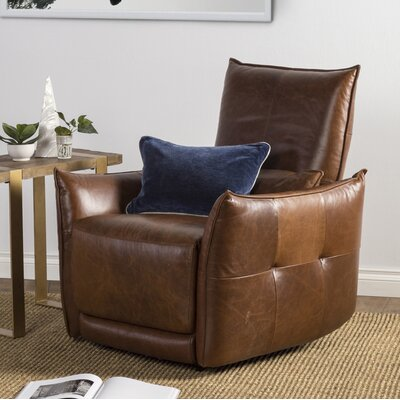 Helfgott Leather Power Wall Hugger Recliner
