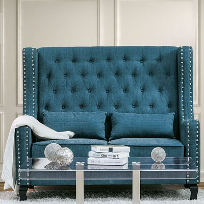 Huntsberry Loveseat Upholstery: Dark Teal