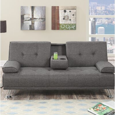 Dansby Ajustable Convertible Sofa Upholstery: Slate