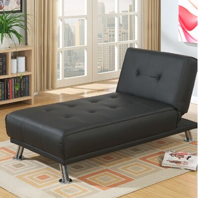 Dansby Ajustable Chaise Lounge Upholstery: Black