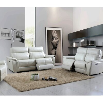 Meister Electric 2 Piece Leather Living Room Set