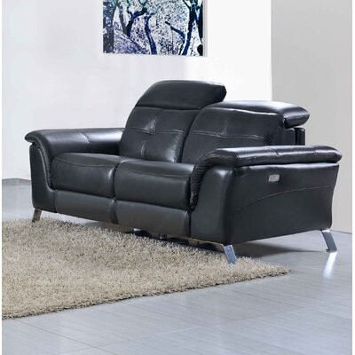 Tom Electric Leather Reclining Loveseat