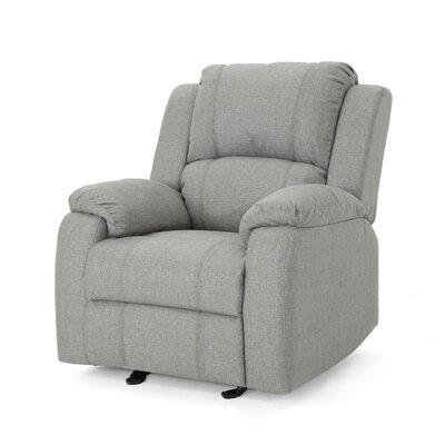 Sabra Manual Glider Recliner Upholstery: Gray