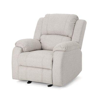 Sabra Manual Glider Recliner Upholstery: Beige