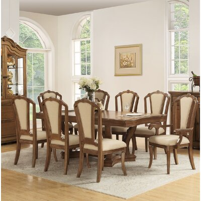 Liddington 9 Piece Dining Set Color: Cherry Oak