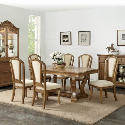 Bevilacqua 7 Piece Dining Set Color: Cherry Oak