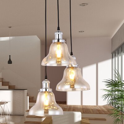 Vroman 3-Light Kitchen Island Pendant
