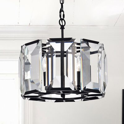 Adelbert Panel 4-Light Drum Pendant
