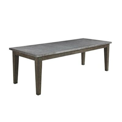 Mccord Rustic Metal Top Dining Table