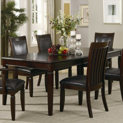 Pyburn Transitional Style Wooden Extendable Dining Table
