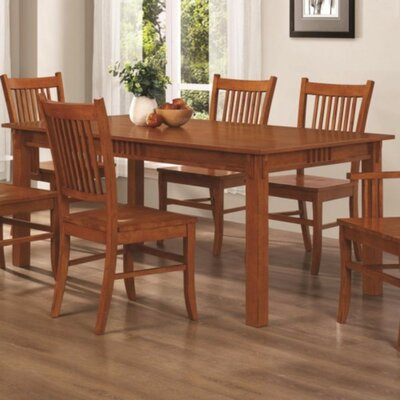 Venable Traditional Mission Style Wooden Dining Table