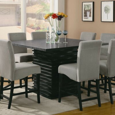 Mcguffin Sophisticated Wooden Counter Height Dining Table