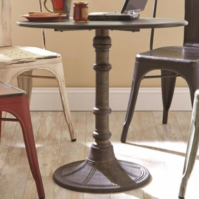 Spencerian Transitional Metal Bistro Dining Table