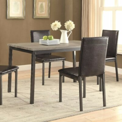 Spenser Contemporary Metal Dining Table