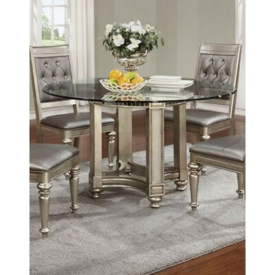 Alyda Bling Zippy Glass Dining Table