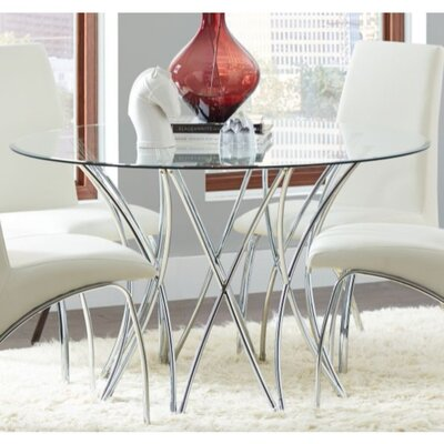 Schrager Glass Top Dining Table