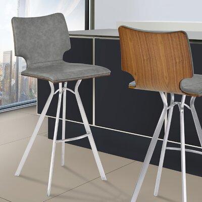 Lucker 26 Bar Stool Upholstery: Gray