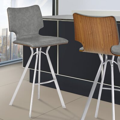 Lucker 30 Bar Stool Upholstery: Gray