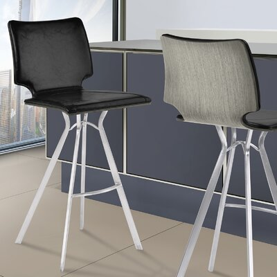 Lucker 30 Bar Stool Upholstery: Black