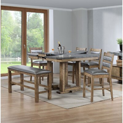 Timmerman 6 Piece Counter Height Dining Set