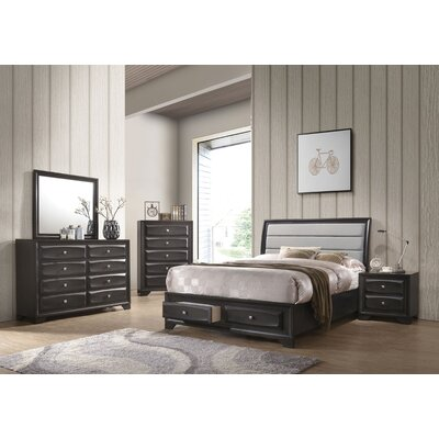 Hersacher Storage Sleigh Configurable Bedroom Set
