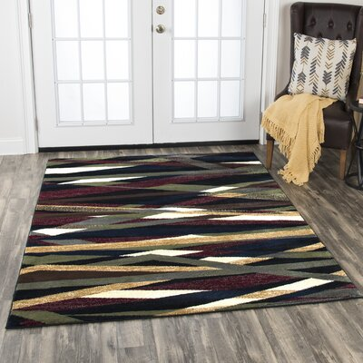 Wortley Brown/Blue Area Rug Rug Size: Rectangle 5'2