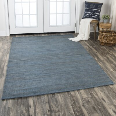 Privett Hand-Woven Blue/Gray Area Rug Rug Size: Rectangle 5 x 7