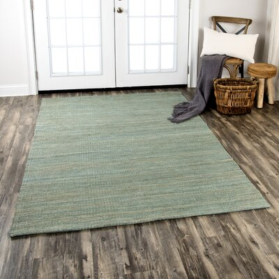 Privett Hand-Woven Green Area Rug Rug Size: Rectangle 7 x 10