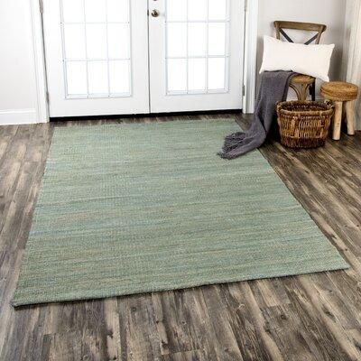 Privett Hand-Woven Green Area Rug Rug Size: Rectangle 5 x 7