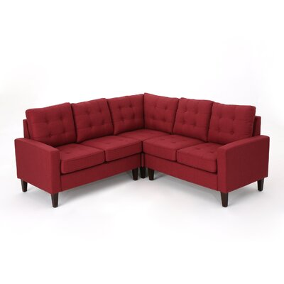 Vanhorn Modular Sectional Upholstery: Red