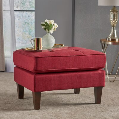 Vanhorn Ottoman Upholstery: Red