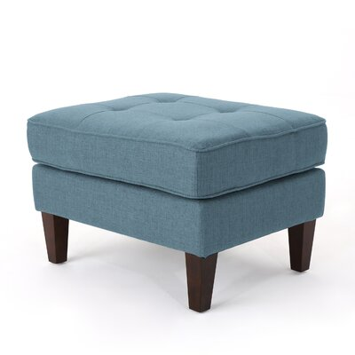 Vanhorn Ottoman Upholstery: Blue