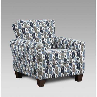 Conann Armchair Upholstery: Cube Blue/Grey