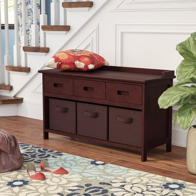 Goudeau 4 Piece Storage Bench Basket Color: Chocolate