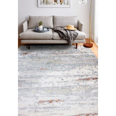 Darlene Hand-Knotted Ivory Area Rug Rug Size: Rectangle 10 x 14