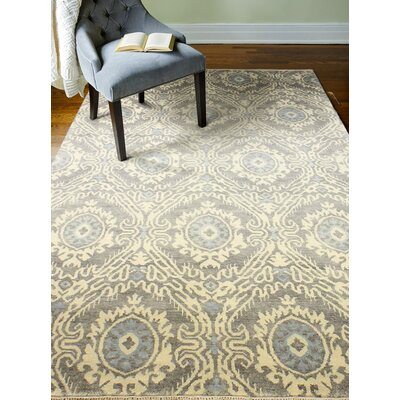 Arsenal Hand-Knotted Wool Gray Area Rug Rug Size: Rectangle 99 x 139