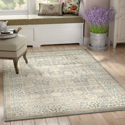 Kerensa�Gray Area Rug Rug Size: Rectangle 7 x 10
