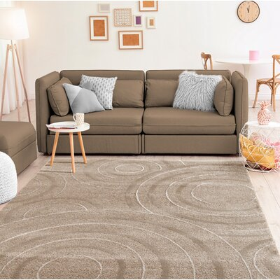 Hilley Accent Beige Area Rug Rug Size: Rectangle 9 x 12