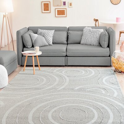 Hilley Accent Gray Area Rug Rug Size: Rectangle 5 x 8