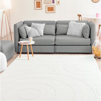 Hilley Accent White Area Rug Rug Size: Rectangle 2 x 8