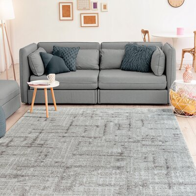 Ospina Accent Gray Area Rug Rug Size: Rectangle 9 x 12
