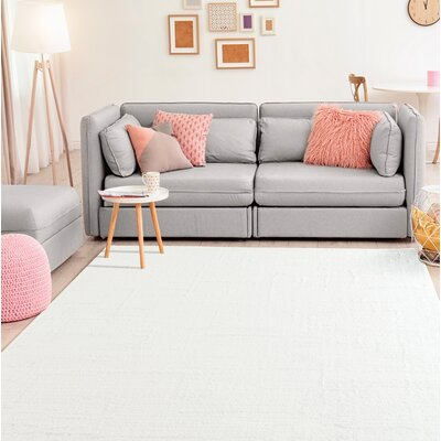 Ospina Accent White Area Rug Rug Size: Rectangle 2 x 8